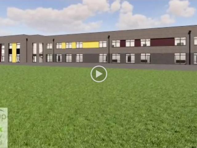 New School Building 3D video